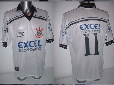 Corinthians PENALTY 11 Adult XL Jersey Soccer Football Vintage Brazil Top 1997