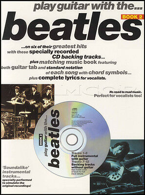 Play Guitar With The Beatles 2 TAB Sheet Music Book with CD Ticket To Ride Pop