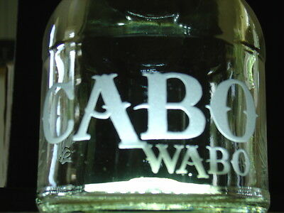 Collectable Art CABO WABO Tequila Bottle Sand Carved LOGO Refill Usable Display