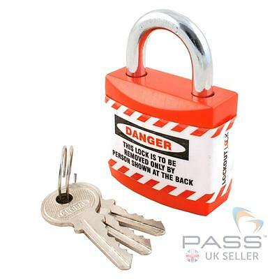 Jacket Padlock with Regular Shackle - Key Different (Red)
