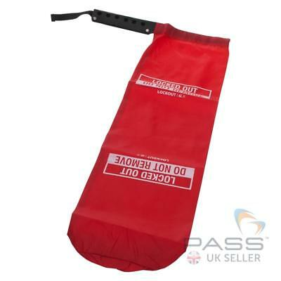 Small Pendant / Crane Cover Lockout - Red PVC  - 12 inches Depth
