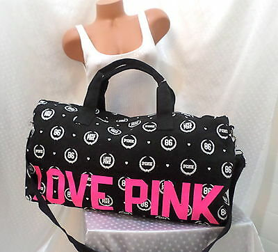 victoria secret pink DUFFLE TRAVEL XLARGE sturdy canvas BAG NWT! LIMITED EDITION