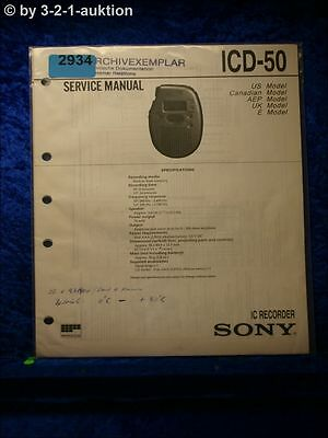 Sony Service Manual ICD 50 IC Recorder (#2934)