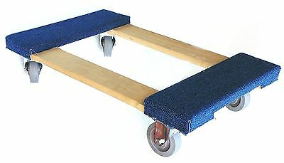 """NK Furniture Movers Dolly with 4"""" Swivel Casters with Brake (30"""" x 17""""), Blue"""
