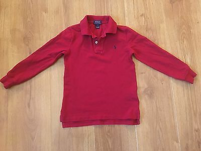 Boys Red Ralph Lauren Long Sleeved Polo Top Age 4 Years