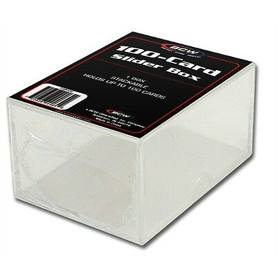 Trading Card Storage Box Acrylic - Holds 100 Cards x 4 Pack
