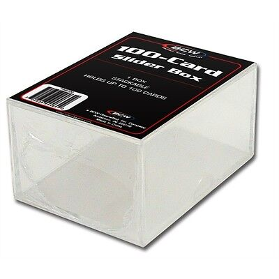 Trading Card Storage Box Acrylic - Holds 100 Cards x 8 Pack