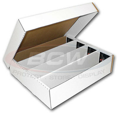 CARD STORAGE BOX WITH FULL LID HOLDS 3200 CARDS  x 3 Box Pack