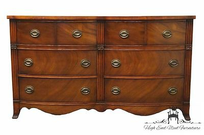 1950's Antique Mahogany Duncan Phyfe Bow Front Double Dresser