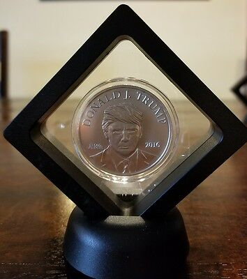 President Donald Trump 1 oz .999 silver coin Make America Great Again RNC Framed