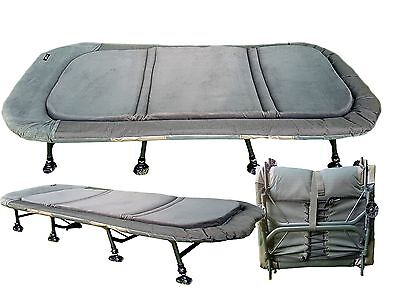 Cyprinus Memory Foam 8 Leg Extra Wide X-Wide Bedchair bed Chair for Carp Fishing
