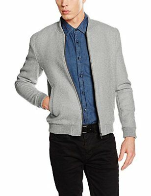 (TG. Medium) SELECTED HOMME SHHHENLEY BOMBER JACKET, Giacca Uomo, Grigio (M1t)