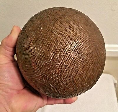 Vintage Copper Covered Sphere, one of a kind. Steam Punk