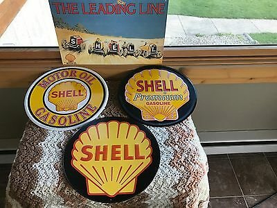 4 Shell Gas and Oil tin Signs