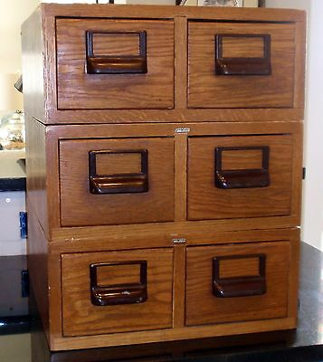 GENUINE Oak Globe-Wernicke Library Card Catalog Cabinet 46a ~ REDUCED!