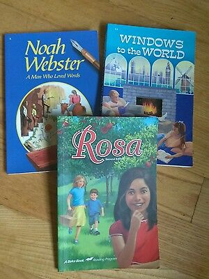 A Beka 5th grade reading books Lot of 3