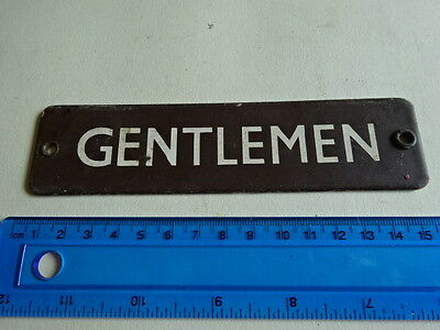 Vintage Sign - Gentleman   - See Pics For Size & Condition