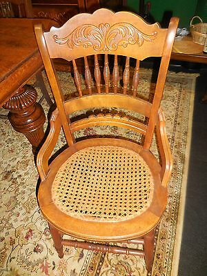 Set of 5 Antique Cane Seats Chairs