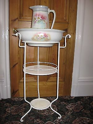 Vintage french style wash stand with bowl with jug