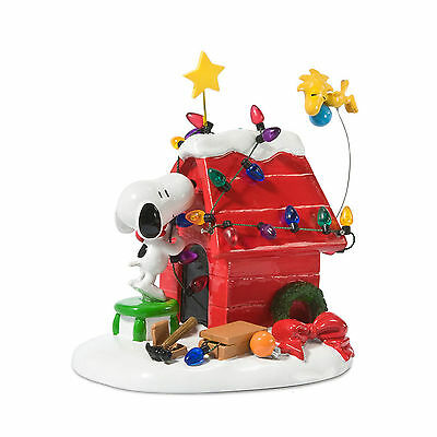 Dept 56 Peanuts Village Snoopy & Woodstock Getting Ready For Christmas 808960