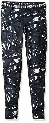 (TG. XS) Under Armour Hg Printed, Leggings Bambina, Bianco, XS (l1A)