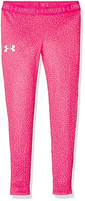 (TG. XS) Under Armour Hg Printed, Leggings Bambina, Rosso, XS (V8y)