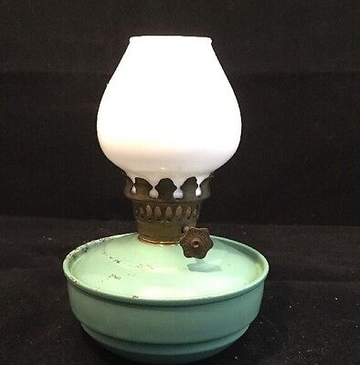 Vintage Nursery/Bedroom Oil Paraffin Lamp with Milk Glass Shade - Kelly/Pixie