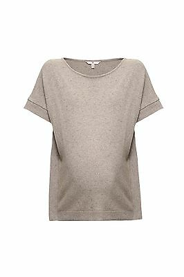 (TG. Large) bellybutton 1/4 Arm, Pullover Donna, Grau (Stone Beige Melange|Gray