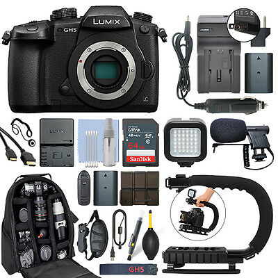 PANASONIC LUMIX GH5 20 3MP 4K Mirrorless Digital Camera 64GB