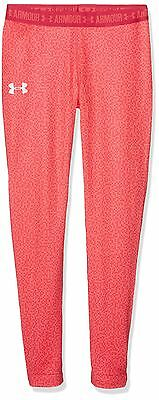 (TG. Large) Under Armour Hg Printed, Leggings Bambina, Rosso, L (U5b)