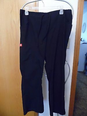 Dickies Scrub Pants size S/P black elastic back draw string front