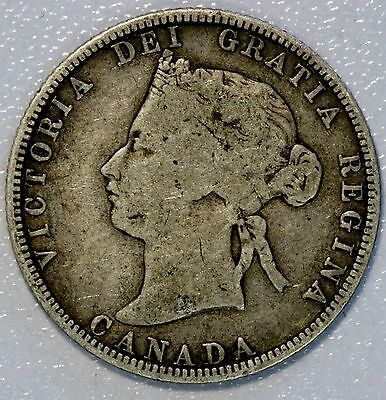 1870 25C Canada Silver Coin Nice Original NEVER CLEANED KM#5 (LV#626)