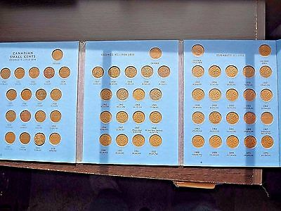 Canadian Small Cents Collection 1920-1972 in Whitman Folder