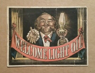 Welcome Light Oil,Haggerty & Co.N.Y.,Trade Card,1880's