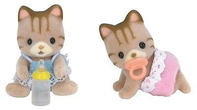 Sylvanian Families Striped Cat Twins to Complement the Striped Cat Family