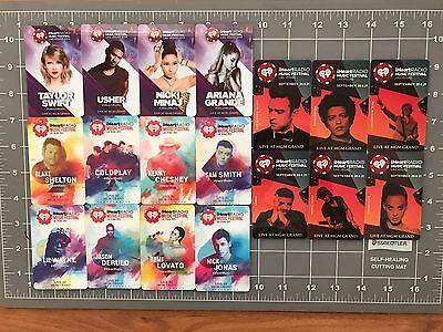 Lot of 18 iHeart Music Festival MGM Key Cards 2013-2015 NEW