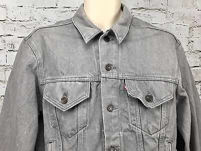 Vintage Levi's Denim Jean Jacket sz 44 Gray 70506 0257 80's Trucker Work Strauss