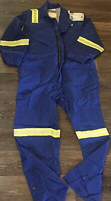 NWT RPS CRUDE FR Fire Resistant Coverall Size 52 Reg Rigwear 7978-Roy REFLECTIVE
