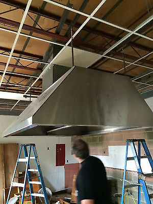 "72"" x 84"" x 27"" Stainless Steel Island Hood with Filters"