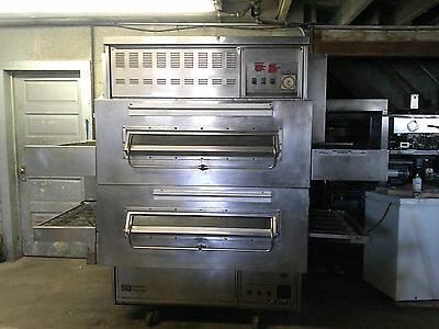 Middleby Marshall 350 360 Double Stack Conveyor Ovens Oven Natural Gas TESTED
