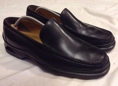 Mens COLE HAAN NIKE AIR Black Leather Loafers Size 10.5 M