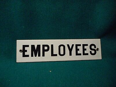 Porcelain Employee Sign In Black And White