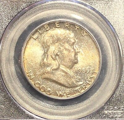 1955 Franklin Half Dollar MS 65 FBL