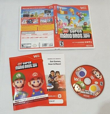 New Super Mario Bros. Wii (Nintendo Wii, 2009) COMPLETE, TESTED!
