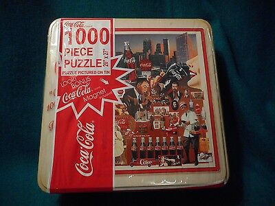 1999 Coca Cola 1,000 Piece 20 X 27 Inch Puzzle In Tin Box