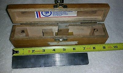 Vintage Microtome Knife Blade, razor,  in wooden box