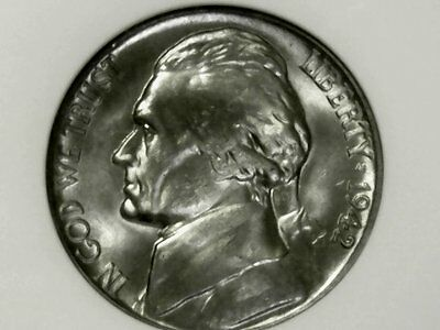 1942-D Jefferson Nickel, Type 1, Anacs Ms65 (2775917)