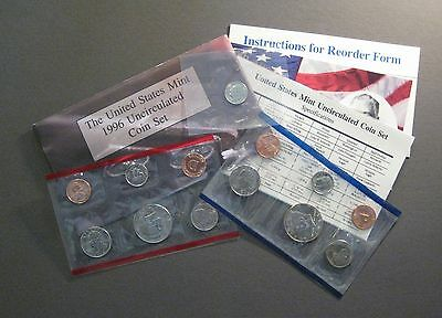 1996 U. S. Mint Uncirculated Coin Set - with 1996 W Dime *Free Shipping* (S982)