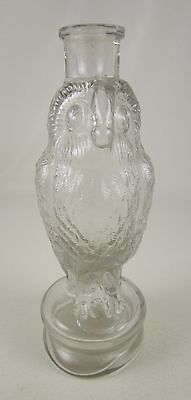 Adorable Old Vintage Glass Owl Bird Candy Container