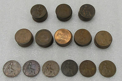 1900's- 1960's Great Britain Large Cents - Lot of 86 Coins